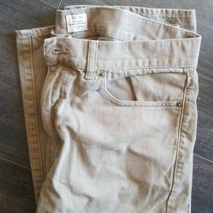 Mens Jcrew beige jeans
